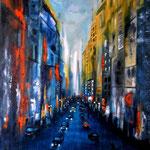 city lights -6- WVZ 2015- verkauft -  Acryl auf Leinwand mit Keilrahmen, 60 x 80 cm