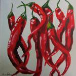 picante 3, Acryl auf LW/KR, 30 x 30 cm - WVZ 2013-25-