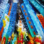 citylights 5 - WVZ 2014 - 43 - Acryl auf Leinwand mit Keilrahmen, 80 x 60 cm