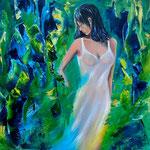 don't touch me, Acryl auf LW/KR, 50 x 50 cm, WVZ 2011-40