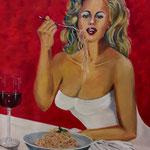 la dolce vita - Acryi auf Leinwand/Keilrahmen, 100 x 80 x 4 cm -WVZ 2012-01