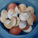 was übrig blieb, 2008, Acryl auf Malkarton, 40 x 40 cm