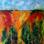 summer meets autumn, Acryl auf Papier, 40 x 30 cm, WVZ 2019-22