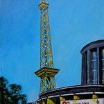 141 - Messehallen am Funkturm - Acryl auf LW/KR, 15 x 20 cm