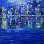 citylights 3 - WVZ 2014-03 - Acryl auf starkem Malpapier, 40 x 30 cm