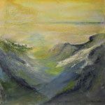 Morgennebel - WVZ 2016-27- Acryl auf LW/KR, 50 x 50 cm