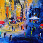 la piazza, Acryl auf starkem Malpapier, 30 x 40 cm - WVZ 3016-24