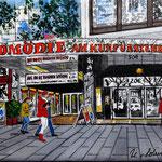 156 - Komödie am Kurfürstendamm, Acryl auf LW/KR, 20 x 15 cm