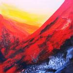 bruciato II, Acryl auf LW/KR, 40 x 40 cm