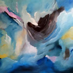 Himmel in Aufruhr - WVZ 2015-14 - Acryl auf Leinwand mit Keilrahmen, 100 x 80 cm