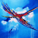 Wolkenkratzer -  WVZ 2014 -42 - Acryl auf LW/KR, 60 x 50 cm