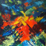 Sinfonie in Farbe - WVZ 2017-26, Acryl in mehrfachen Schichten auf LW/KR, 50 x 50 cm