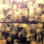 Goldstücke 1 - WVZ 2014-47 - Acryl auf Leinwand mit Keilrahmen, 40 x 40 cm