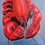lobster -2- Acryl auf LW/KR, 30 x 30 cm