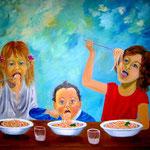 uns schmeckt's - WVZ 2015-07 - Acryl auf Leinwand mit Keilrahmen, 100 x 80 x 4 cm