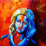 miss you, Acryl auf LW/KR, 40 x 40 cm