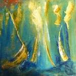la primavera, Acryl gespachtelt auf LW/KR, 40 x 40 cm