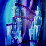 misterioso - Acryl auf Malpappe, 50 x 60 cm