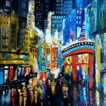 City-light's -7-, WVZ 2017-07, Acryl auf LW/KR, 70 x 80 cm
