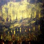 Goldstücke 4 - Lichterkette - WVZ 2014 - 50 - Acryl auf Leinwand mit Keilrahmen, 40 x 40 cm