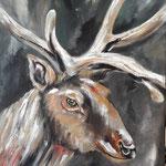 seine Majestät, Acryl auf LW/KR, 60 x 40 cm - WVZ 2019-11-