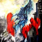 Bedrohung - WVZ 2015-01 - Acryl auf Leinwand mit Keilrahmen, 40 x 50 cm