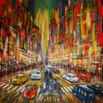city-lights 2 - WVZ             - Acryl auf Leinwand mit Keilrahmen, 50 x 50 cm - verkauft -