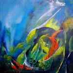 Abfalldeponie Meer, Acryl auf Leinwand/KR, 30 x 30 cm, WVZ 2019 -03