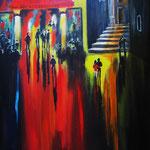 im Licht der Nacht, 40 x 60 cm,Acryl auf LW/KR
