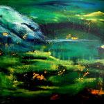 paesaggio astratto 6-08 - Acryl auf LW/KR, 70 x 60 cm