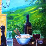 a tavola - Acryl auf LW(KR, 60 x 40 cm - WVZ 2013-22 verkauft