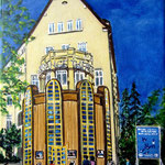 132 - Renaissance Theater - Acryl auf LW/KR, 15 x 20 cm