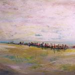 am Horizont - WVZ 2014-26 - Acryl auf LW/KR, 80 x 60 cm