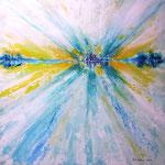 das Ziel vor Augen - WVZ 2014-02 - Acryl gespachtelt auf LW/KR, 50 x 50 cm