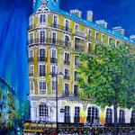 Café le Dome, Acryl auf LW/KR, 80 x 60 cm