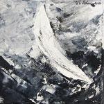 Krängung, WVZ 2014-12- Acryl gespachtelt auf LW/KR, 20 x 20 cm