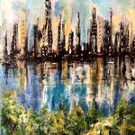 Skyline - Acryl auf Papier, 40 x 30 cm, WVZ 2019-24