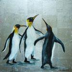 Gentlemen im Frack, Acryl auf LW/KR, 50 x 50 cm