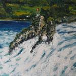 Rheinfall, Acryl auf LW/KR, 70 x 50 cm