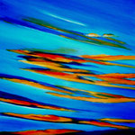 Abschied vom Tag - Acryl auf LW/KR, 80 x 60 cm