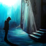 quasi mezzanotte, Acryl auf LW/KR, 80 x 60 cm -verkauft