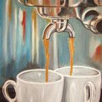 due caffè - Acryl auf LW/KR, 40 x 50 cm
