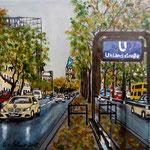139 - Herbst in Berlin - Acryl auf LW/KR, 15 x 15 cm