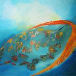 losgelöst - WVZ 2014-24 - Acryl auf LW/KR, 50 x 50 cm