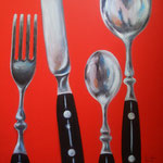 posate -1- Acryl auf LW/KR, 50 x 50 x 4 cm