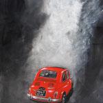 mit 13 PS auf tour -Acryl auf Leinwand/Keilrahmen, 60 x 40 cm - WVZ 2014-08
