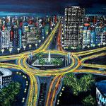 Traffic lights - Erst-Reuter-Platz - WVZ 2018--20, Acryl auf LW/KR, 60 x 80 cm -verkauft-
