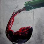 vino rosso -4-, Acryl auf Leinwand mit Keilrahmen, 40 x 50 cm, WVZ 2015-16