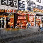 152 - Theater am Kurfürstendamm - Acryl auf LW/KR, 15 x 15 cm