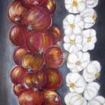 cipolle e più 2 - Acryl auf LW/KR, 30 x 80 cm